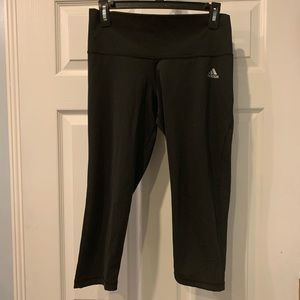 Adidas Capri Black work out Pants